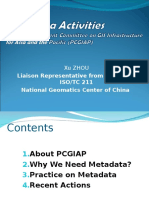 Xu Zhou Metadata Activities With PCGIAP