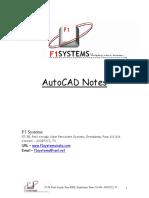 Autocad Notes