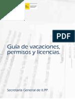 Guia de vacaciones,permisos,licencias