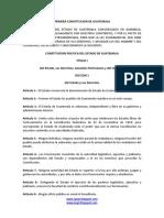 Constitucion Guatemala, 1825