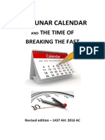 The Lunar Calendar and the Time of Breaking the Fast