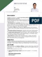 New Resume Pank Godrej