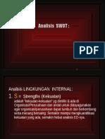 Analisis SWOT Analisis Lingkungan