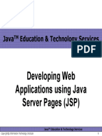 Developing Web Applications Using Java Server Pages (JSP) Final