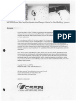 NBC 2005 Snow, Wind and Earthquake Load Design Criteria for Steel Building Systems