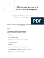 F. González del Campo Román - Apellidos y Migraciones Internas en La España Cristiana de La Reconquista
