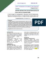 Spectrophotometric Estimation of Satranidazole In