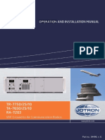 Operation and Installation Manual TR7750 VE
