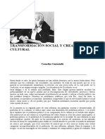 Castoriadis Creación Cultural Transformación Social