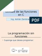 Utilidad de Las Funciones en C