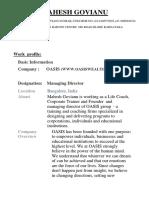 Mahesh Govianu Profile