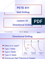 PETE 411 Directional Drilling