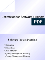 Software estimaton techniques