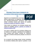 Bricolaje Cajones Tutorial Instalar Correderas Telescopicas Mueble de Melamina y Madera