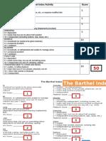 Barthel Index (Geriatri)