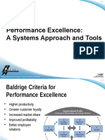 2014 Performance Excellence a Systems Approach and Tools