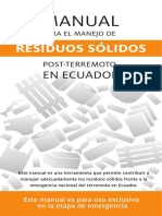 Manual Manejo Residuos Terremoto Ecuador