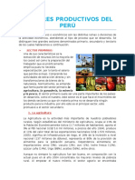 Sectores Productivos Del Perú