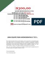 Fortaleza MONOGRAFIA E TCC PARA TODOS OS CURSOS R$300,00