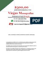 Salvador MONOGRAFIA E TCC PARA TODOS OS CURSOS R$300,00
