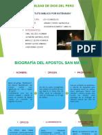 Biografia Del Apostol Mateo y Marcos