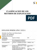 Clasificacion de Los Metodos de Explotacion