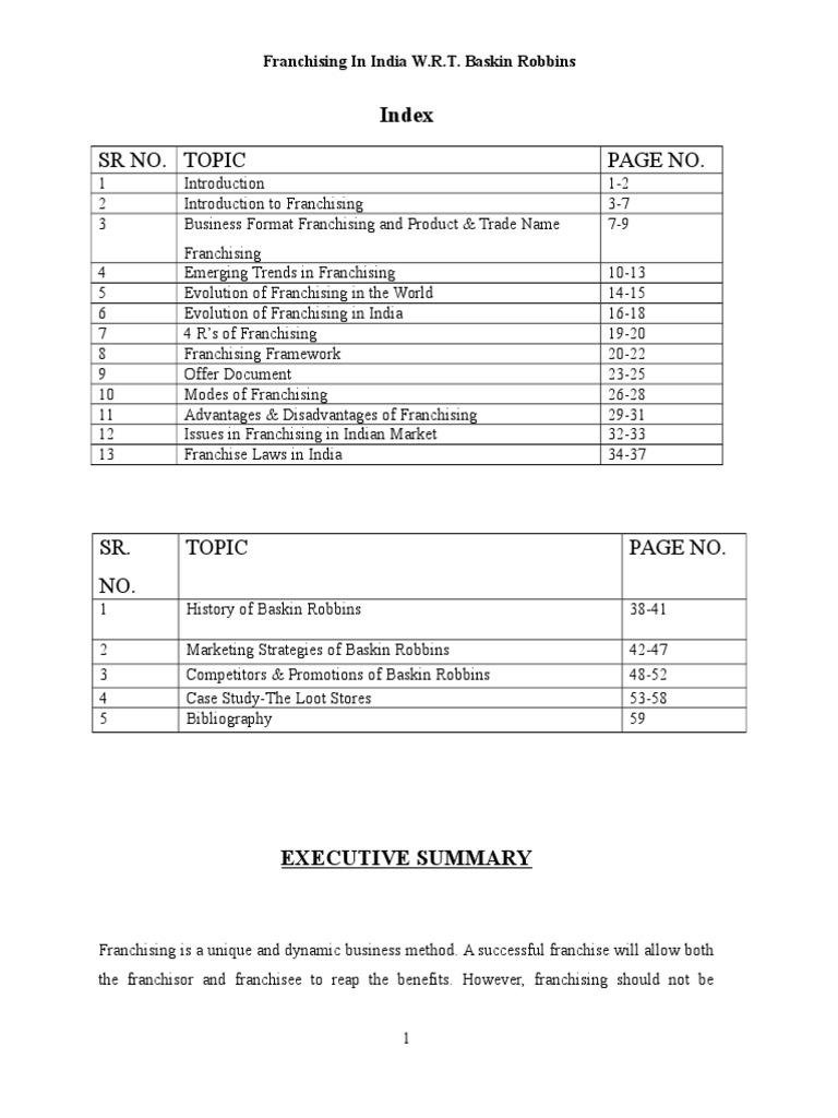 Franchising In India W.R.T. Baskin Robbins shiny.doc | Franchising ...