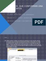Elementos Que Conforman Una Base de Datos