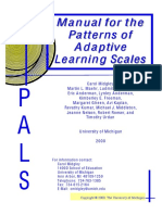 The Patterns of Adaptive Learning Scale (PALS)
