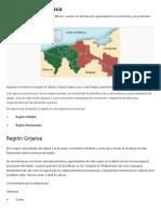Regiones de Tabasco