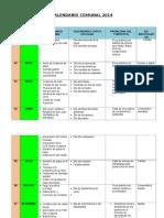 Calendario Comunal Ccapuna 2014