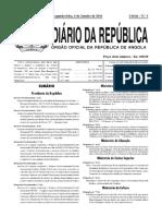 Dec.pres. Nº 1-16_Regime Jurídico Da Actividade de Restauração e Similares