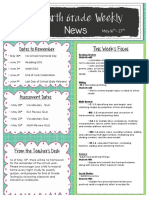 fourth grade newsletter may 16th- 27th