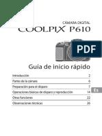Nikon Coolpix P610 - Guía de Inicio Rápido