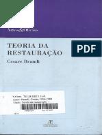 Teoria da Restauração - Cesare Brandi (Parte 1)