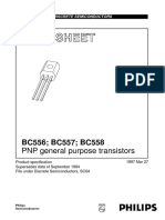 Datasheet BC558 General Purpose