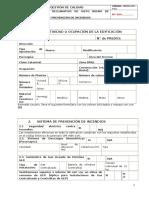 Cbdmq Iso r 62 Formulario Bomberos Memoria Tecnica