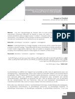Contribution de la Phonétique a l'enseignement/apprentissage du Francais dans le cycle primaire - Bouguerra Cheddad