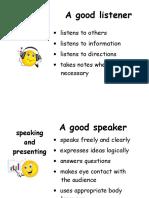 Checklist Listening,Speaking,Presenting
