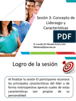 Liderazgo Sesion 3 Lider y Caracteristicas
