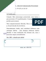 Atos de Comunicação Processual