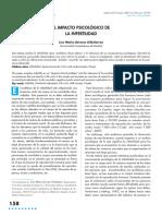 Llavina Uribalarrea, Impacto Psicologico en La Infertilidad