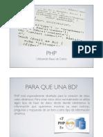 PHP y Base de Datos