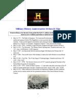 Military History Anniversaries 0516 Thru 053116