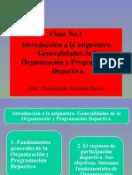 1. Clase No.1 Organización Deportiva