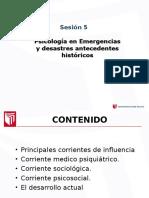 SEMANA 5 Intervención Psicológica en emergencia y desastres