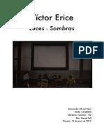 Victor Erice. Luces - Sombras. Literatura i Cinema. Alessandro Ulivieri.