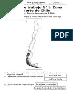 Ficha N°1 Zona norte de chile