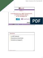2015. GL3. ProgrammationII. Chap1. Introduction à .NET Framework Et à C#