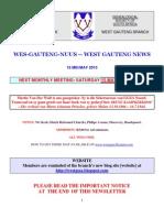 Wes-Gauteng-nuusbrief 2010-05